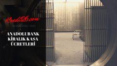 Anadolubank Kiralık Kasa Ücretleri, Kiralik kasa ücretleri