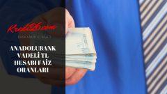 Anadolubank Vadeli TL Hesabı Faiz Oranları, e-vadeli mevduat – Anadolubank