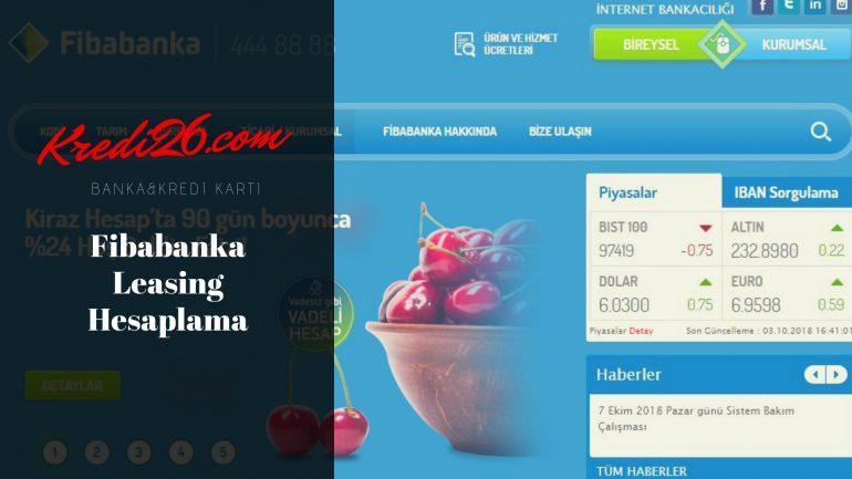 Fibabanka Leasing Hesaplama, Hesaplama Araçları ile Hızlı Kredi Hesaplama