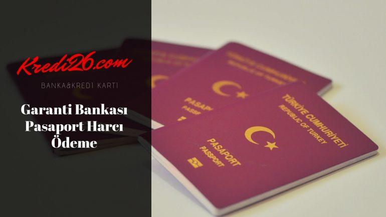 Garanti Bankası Pasaport Harcı Ödeme, Garanti Bankası Pasaport Harcı Yatıramıyorum
