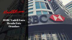 HSBC Vadeli Euro Hesabı Faiz Oranları, Vadeli Mevduat   Mevduat Ürünleri   Günlük Bankacılık