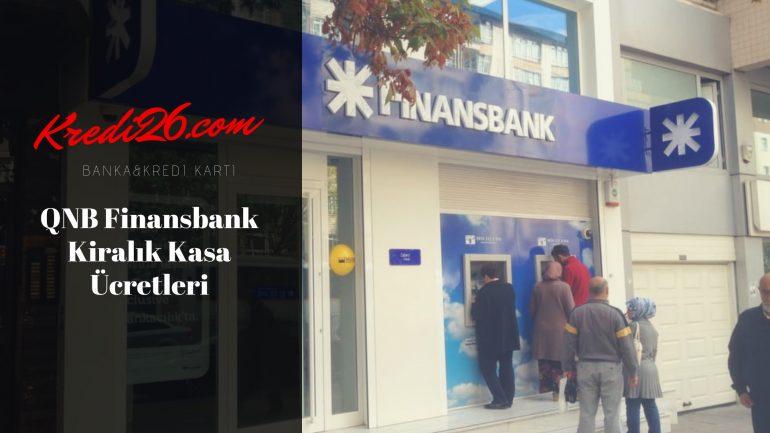 QNB Finansbank Kiralık Kasa Ücretleri, Kiralık Kasa – QNB Finansbank