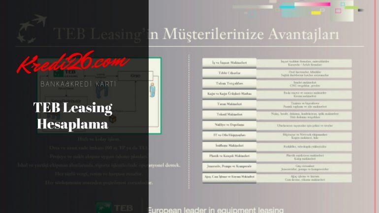 TEB Leasing Hesaplama, KOBİ'lere Özel TEB Leasing | Türk Ekonomi Bankası