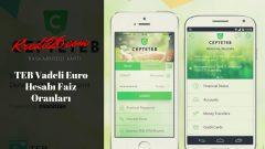 TEB Vadeli Euro Hesabı Faiz Oranları, Vadeli Mevduat Hesabı Faiz Oranları Hesaplama | CEPTETEB