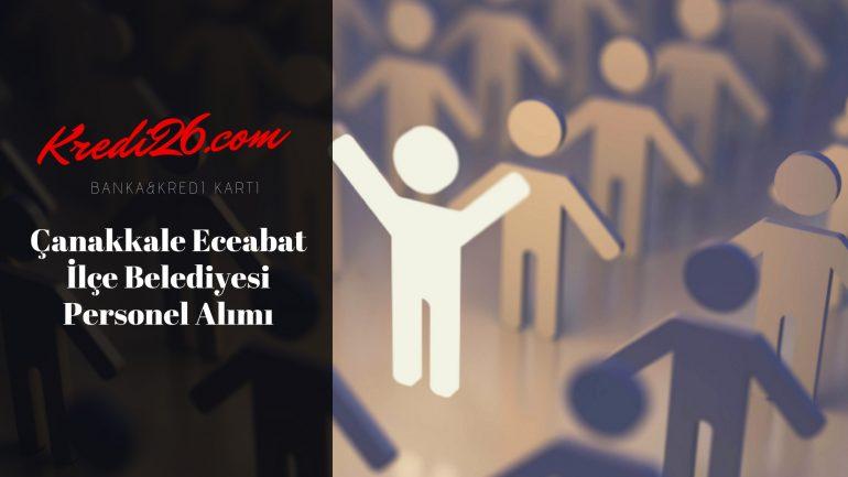 Çanakkale Eceabat İlçe Belediyesi Personel Alımı, Başvuru Şartları