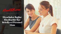 Diyarbakır Bağlar Büyükşehir İlçe Belediyesi Personel Alımı, Başvuru Şartları