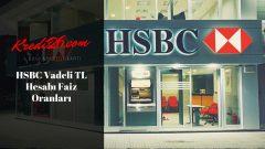 HSBC Vadeli TL Hesabı Faiz Oranları, Vadeli Mevduat   Mevduat Ürünleri   Günlük Bankacılık