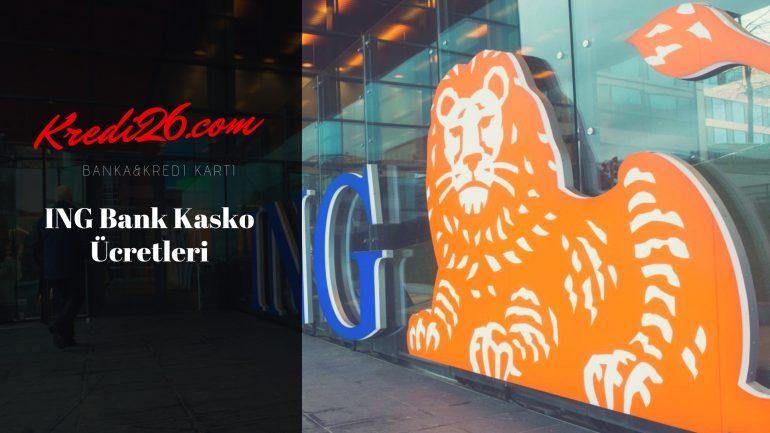 İng Bank Kasko Ücretleri, ing bank hangi sigorta şirketi ile çalışıyor