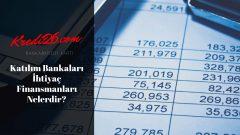 Katılım Bankaları İhtiyaç Finansmanları Nelerdir?, Katılım bankaları ihtiyaç kredisi veriyor mu?