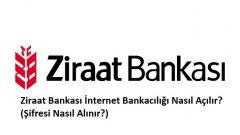 Ziraat Bankası İnternet Bankacılığı Nasıl Açılır? (Şifresi Nasıl Alınır?)
